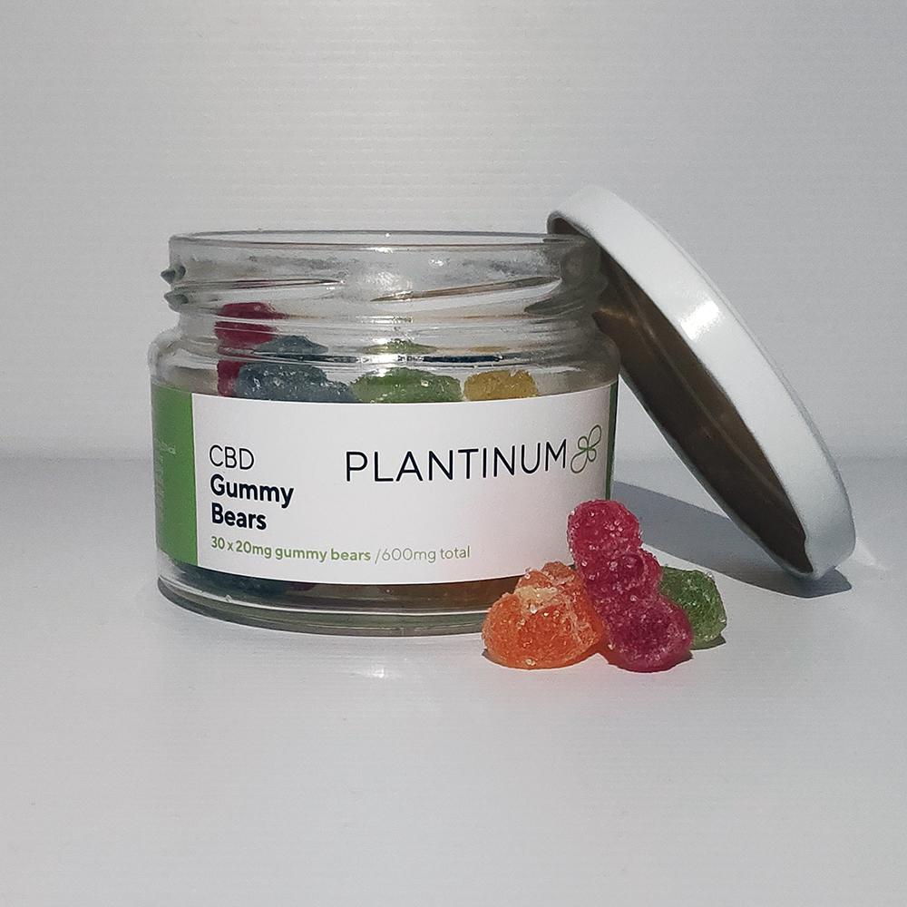 Plantinum CBD edibles home page link
